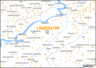 map of Lodhre Utār