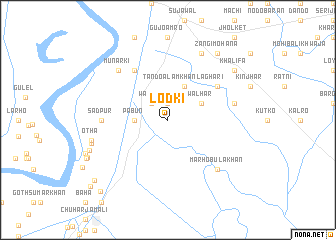 map of Lodki