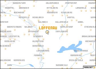 map of Loffenau