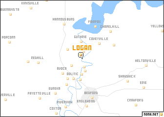 map of Logan
