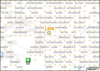 map of Löhe