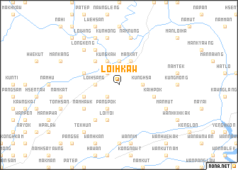 map of Loi-hkaw
