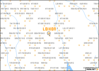 map of Loi-kon