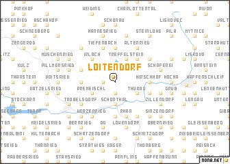 map of Loitendorf