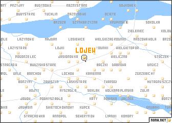 map of Łojew