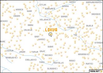map of Lokva