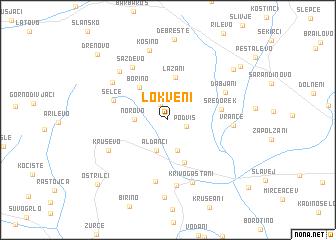 map of Lokveni