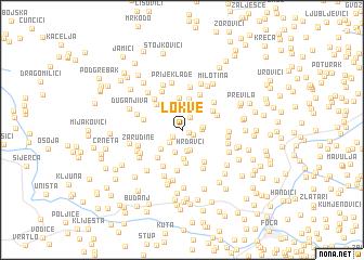 map of Lokve