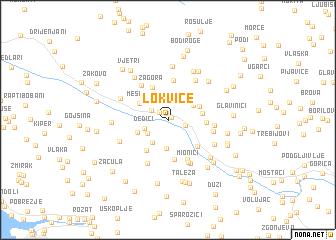 map of Lokvice