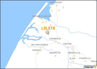 map of Loleta
