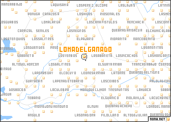 map of Loma del Ganado