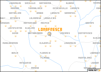 map of Loma Fresca