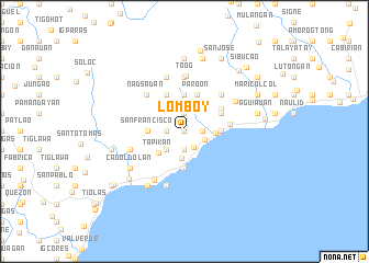 map of Lomboy