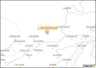 map of Lo Miranda