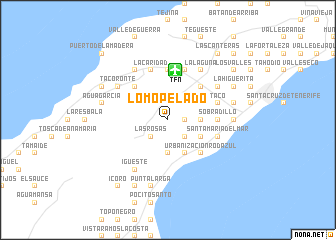 map of Lomo Pelado