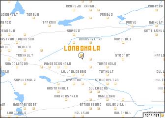map of Lönbomåla