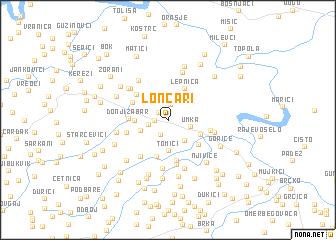 map of Lončari