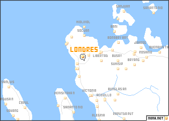 map of Londres
