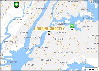 Long Island City United States Usa Map Nonanet - Long-island-on-us-map