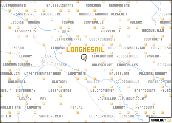 map of Longmesnil