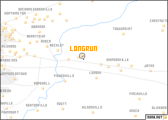 map of Long Run