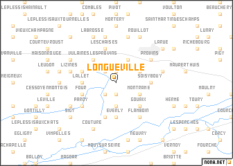 map of Longueville
