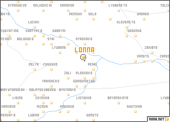 map of Lonna