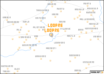 map of Loopre