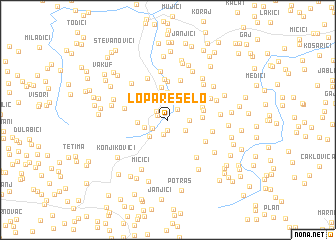 map of Lopare Selo