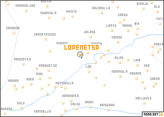 map of Lõpemetsa