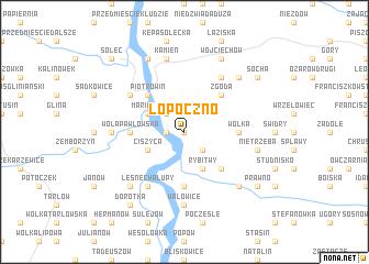map of Łopoczno
