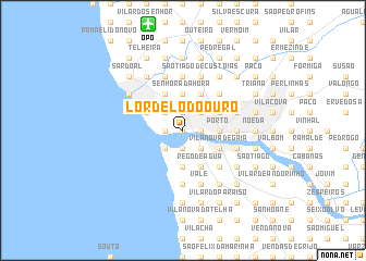 map of Lordelo do Ouro