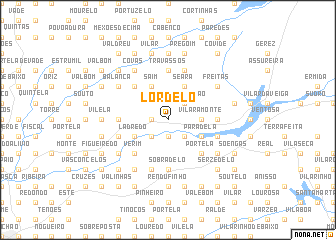 map of Lordelo