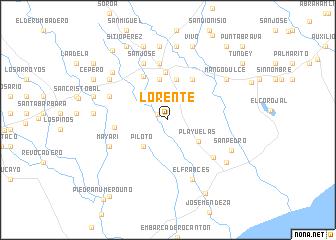 map of Lorente