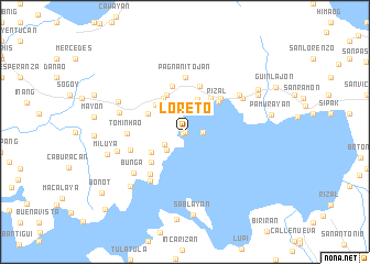 map of Loreto