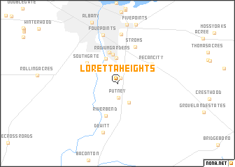 map of Loretta Heights