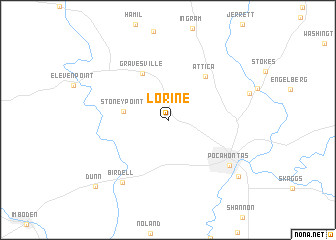 map of Lorine