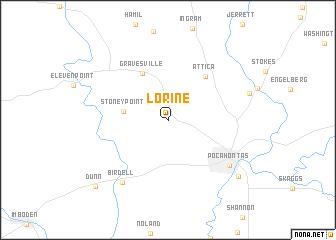 map of Lorine