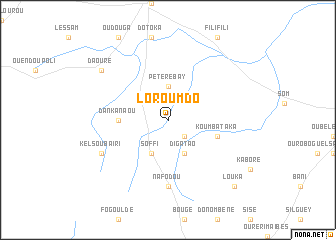 map of Loroumdo