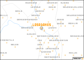 map of Los Adames