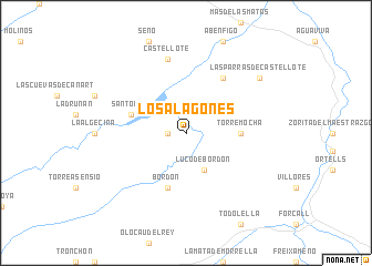 map of Los Alagones