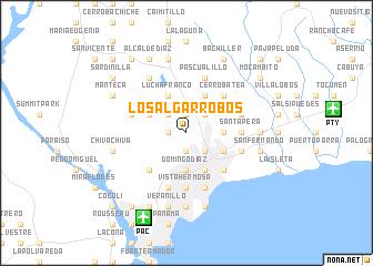 map of Los Algarrobos