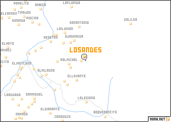 map of Los Andes