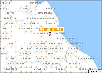 map of Los Ángeles