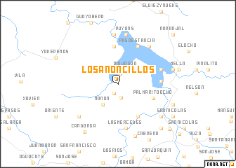 map of Los Anoncillos