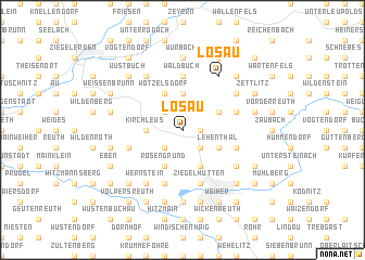 map of Lösau