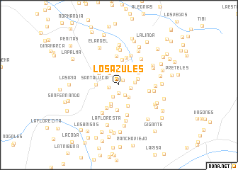 map of Los Azules