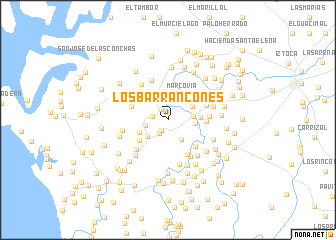 map of Los Barrancones