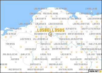 map of Los Bellosos