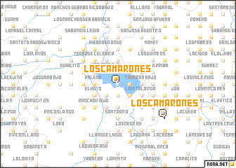 map of Los Camarones